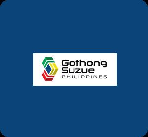 Gothong Suzue Philippines logo with blue background