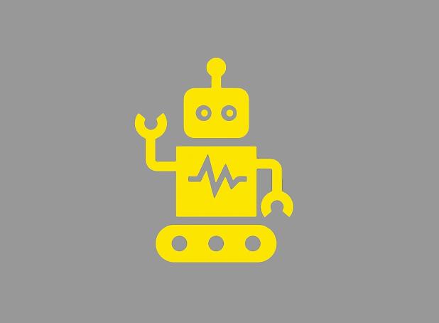 robot yellow icon