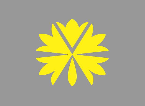 flower pattern yellow icon