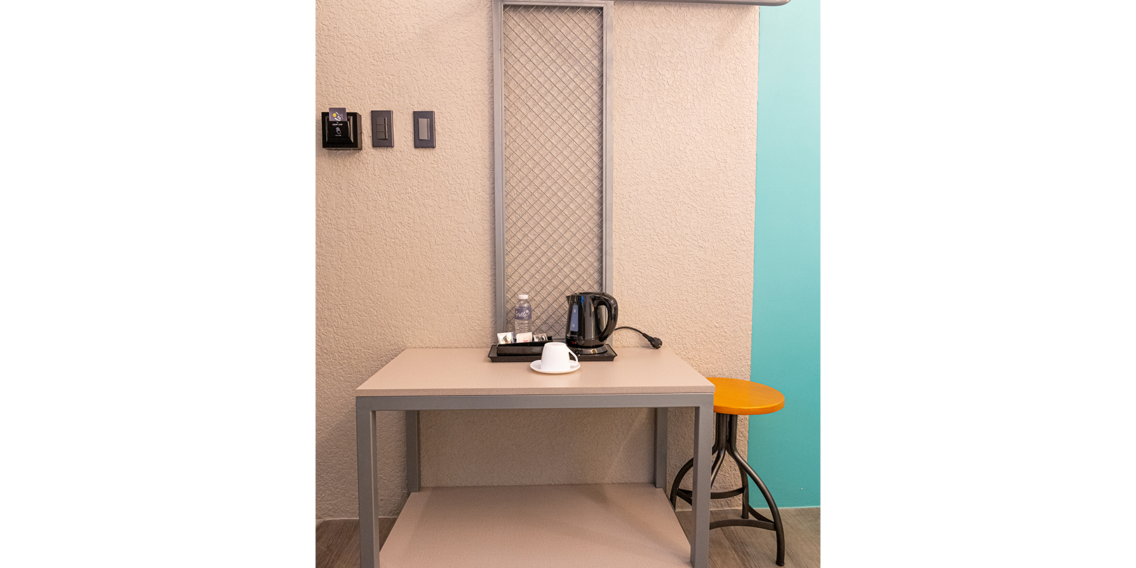 photo of a small table inside the yello hotel executive room